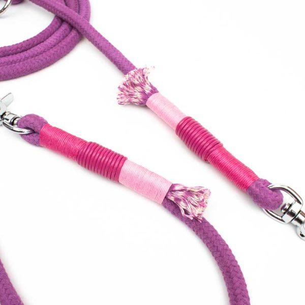 Halsband Hundeleine Pink Rosa Tau