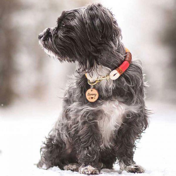 Hundemarke Natur Halsband