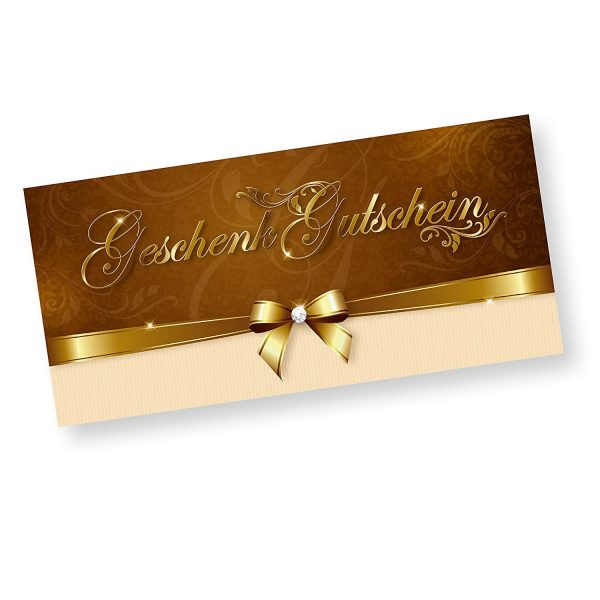 Gutschein Luxus Gold Geschenk