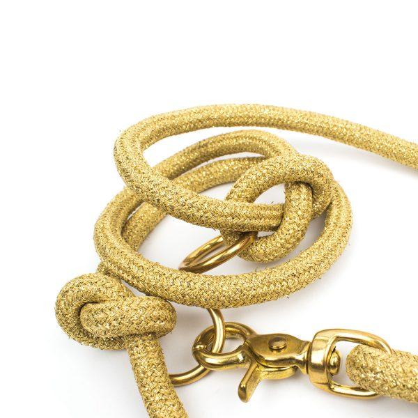 Goldene Luxus Hundeleine