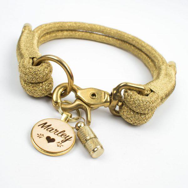 Halsband Glitzer Gold