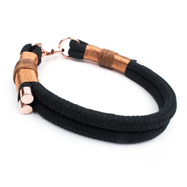 Tau Halsband Schwarz Roségold
