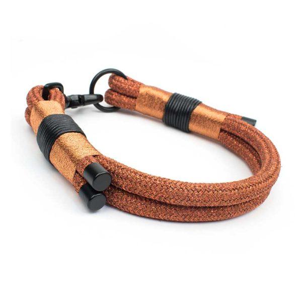 Luxus Halsband Set Bronze Schwarz