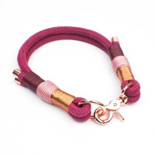 Halsband Bordeaux Rosegold
