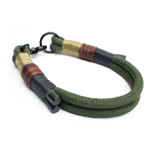 Halsband in Olive Schwarz